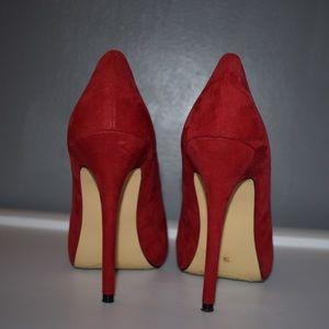 Very lightly worn Red Stiletto Heels